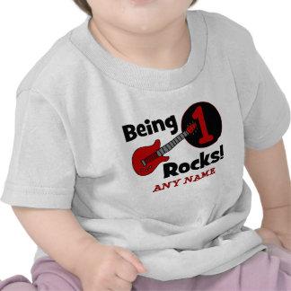 ¡Siendo rocas 1! El 1r cumpleaños del bebé Camisetas