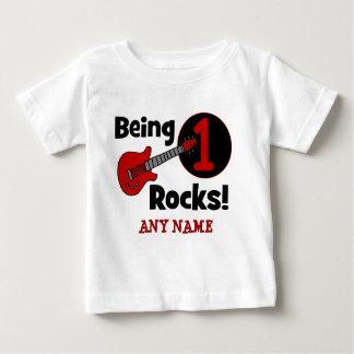 ¡Siendo rocas 1! El 1r cumpleaños del bebé Playera