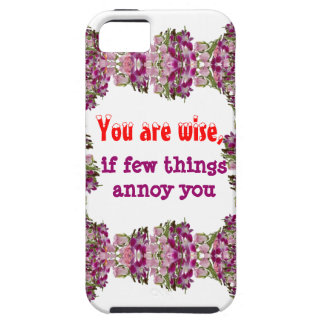 Siendo sabio - palabras de la sabiduría iPhone 5 carcasas
