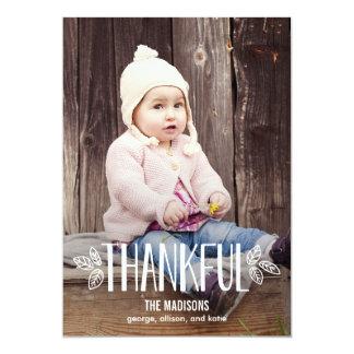 """Siendo tarjetas agradecidas de la foto de la invitación 5"""" x 7"""""""