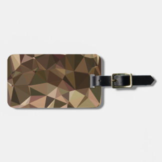 Sienna Abstract Low Polygon Background Bag Tag