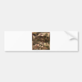 Sienna Abstract Low Polygon Background Bumper Sticker