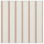 [ Thumbnail: Sienna and Beige Lined/Striped Pattern Fabric ]