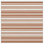 [ Thumbnail: Sienna and Beige Pattern Fabric ]