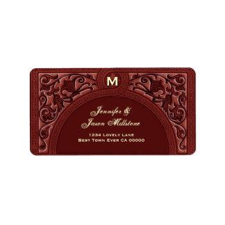 SIENNA and CREAM Floral Arch Wedding Address Label