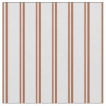 [ Thumbnail: Sienna and Lavender Stripes/Lines Pattern Fabric ]