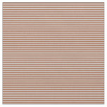[ Thumbnail: Sienna and Light Grey Stripes Fabric ]