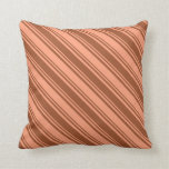 [ Thumbnail: Sienna and Light Salmon Colored Pattern Pillow ]