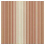 [ Thumbnail: Sienna and Pale Goldenrod Lines Fabric ]