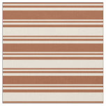 [ Thumbnail: Sienna & Bisque Colored Pattern Fabric ]