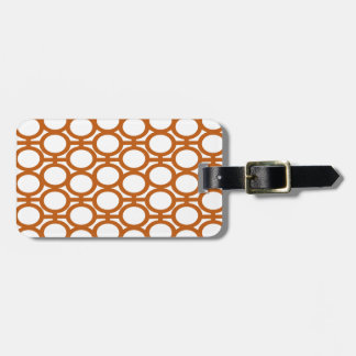 Sienna Brown and White Eyelets Bag Tag