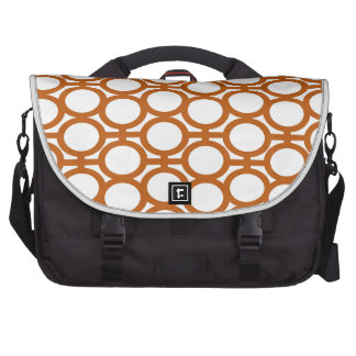 Sienna Brown and White Eyelets Laptop Bag