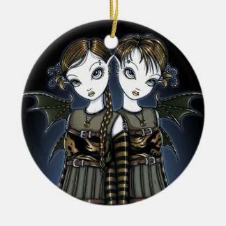 """Sienna & Celeste"" Dragon Gemini Twin Fae Ornament"