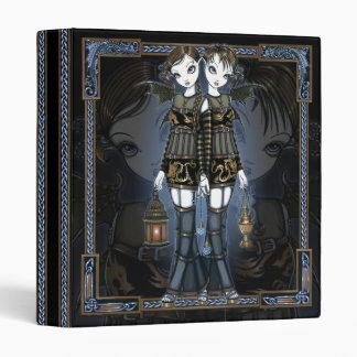 """Sienna & Celeste"" Dragon Twin Fairies Art Binder"