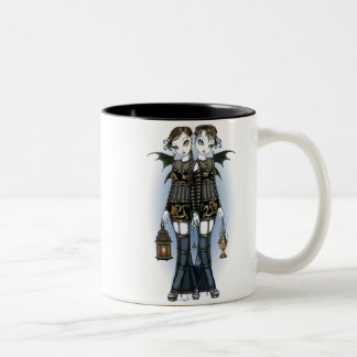 """Sienna & Celeste"" Dragon Twin Fairies Art Mug"