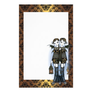 """Sienna & Celeste"" Dragon Twin Fairies Stationery"