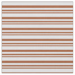 [ Thumbnail: Sienna & Lavender Colored Striped/Lined Pattern Fabric ]