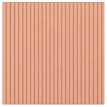 [ Thumbnail: Sienna & Light Salmon Pattern of Stripes Fabric ]