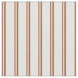 [ Thumbnail: Sienna & Light Yellow Striped Pattern Fabric ]