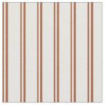 [ Thumbnail: Sienna & Mint Cream Lines Fabric ]