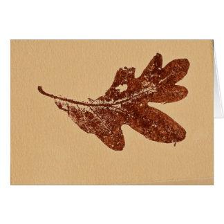 """Sienna Oak Leaf"" Country Road Greeting Card"