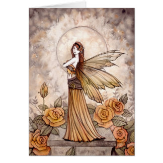 Sienna Rose Fairy Card by Molly Harrison