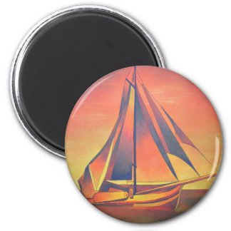 Sienna Sails at Sunset Magnets