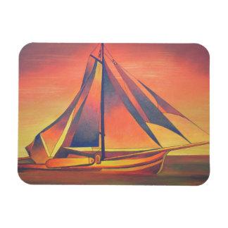 Sienna Sails at Sunset Vinyl Magnets