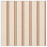[ Thumbnail: Sienna & Tan Lines Pattern Fabric ]
