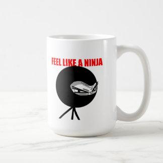 Sienta como un Ninja Taza Básica Blanca