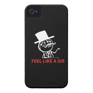 Sienta como un sir - Blackberry 9700/9780 Funda Para iPhone 4