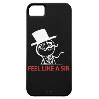 Sienta como un sir - caja negra del iPhone 5 iPhone 5 Carcasas
