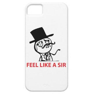 Sienta como un sir - caso del iPhone 5 iPhone 5 Case-Mate Fundas