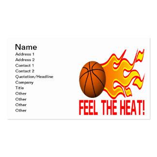 Sienta el calor tarjetas de visita