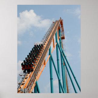 Sienta el G-forice de un roller coaster Póster
