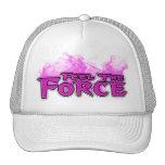 Sienta el gorra del rosa de la fuerza