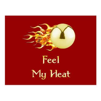 Sienta mi pinball llameante del calor tarjeta postal