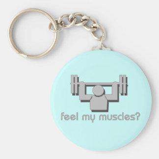 Sienta mis músculos llaveros