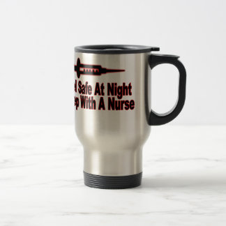 Sienta seguro en la noche, sueño con una enfermera taza térmica