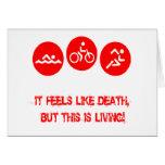 Siente como la muerte - Triathlon Tarjeta De Felicitación