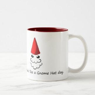 Siente como un día del gorra del gnomo tazas de café
