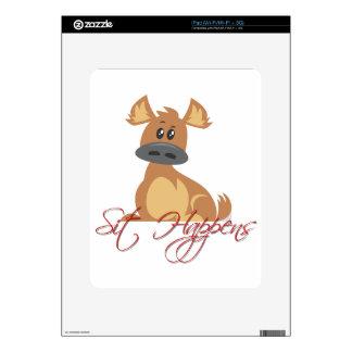siente divertido lindo del perro calcomanías para iPad