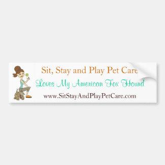 Siente los amores del cuidado de animales de compa etiqueta de parachoque