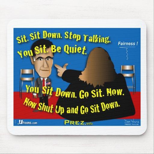 Siéntese. Cierre para arriba Alfombrillas De Ratón