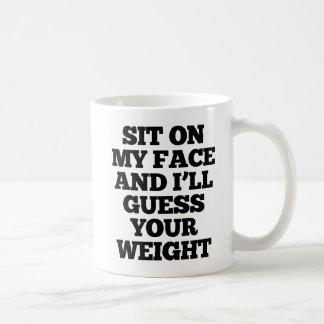 Siéntese en mi cara y conjeturaré su taza del peso