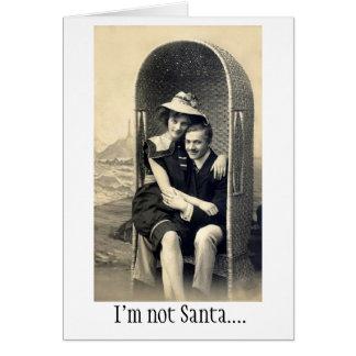 Siéntese en mi revestimiento tarjeta de felicitación