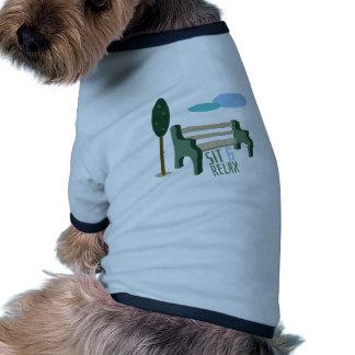 Siéntese y relájese ropa de perro