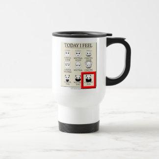 Siento hoy mal caótico taza de café