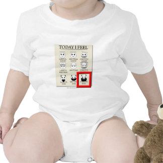Siento hoy mal caótico traje de bebé
