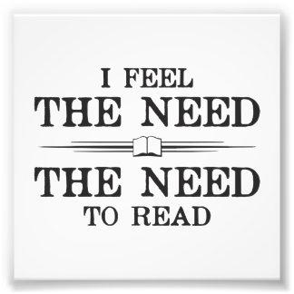Siento la necesidad de leer cojinete